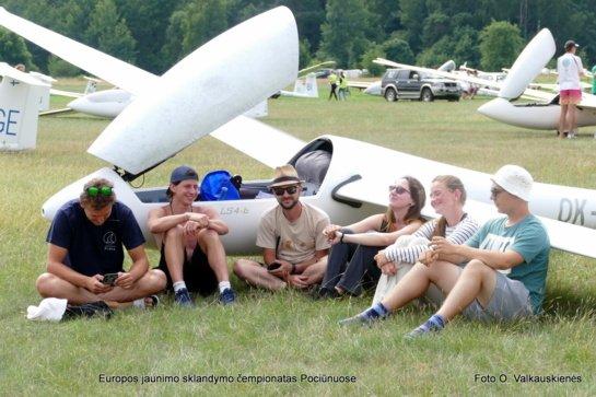 Europos jaunųjų sklandytojų Lietuvos orai nelepina