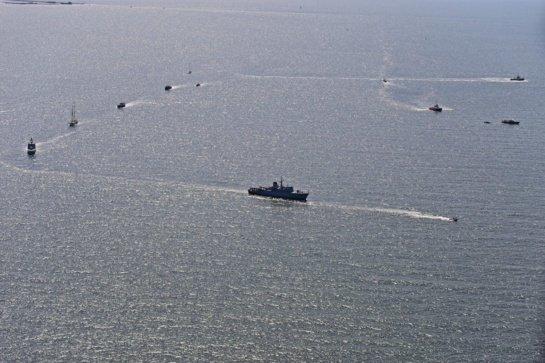 Pagerbti iš jūros negrįžę jūrininkai