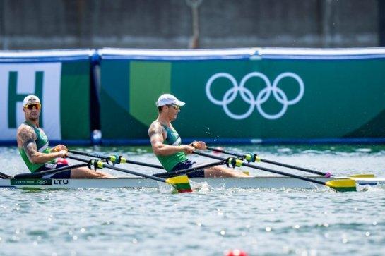 S. Ritteris ir A . Adomavičius pateko į olimpinių žaidynių pusfinalį