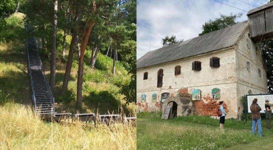 Pagėgių rajone sutvarkytas Šereitlaukis, atnaujinami laiptai į Rambyną