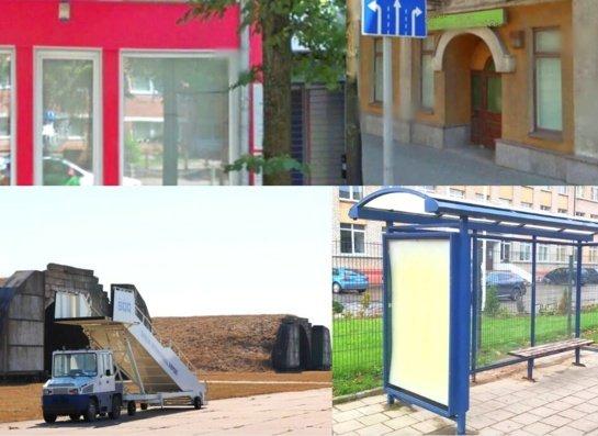 Nuomos konkurse nuo autobusų stotelių paviljonų iki kartingų trasos ir aviacinių angarų