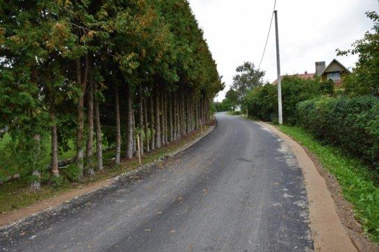 Marijampolės savivaldybės teritorijoje esančiuose soduose vyksta gatvių asfaltavimo darbai