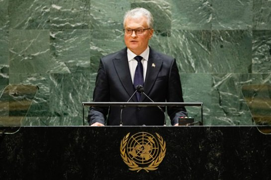 G. Nausėda kvietė pasaulio lyderius siekti globalaus 70 proc. vakcinacijos rodiklio