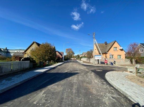 Tauragėje – dar daugiau asfaltuotų gatvių