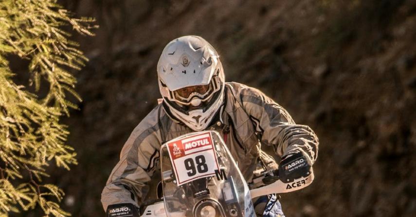 Motociklininkas B. Bardauskas Dakaro ralyje kyla į viršų