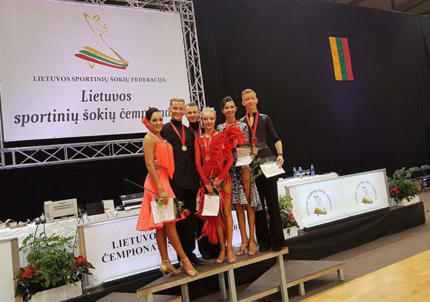 Lietuvos dešimties šokių čempionato nugalėtojais tapo N. Moisejenka ir J. Gustaitė