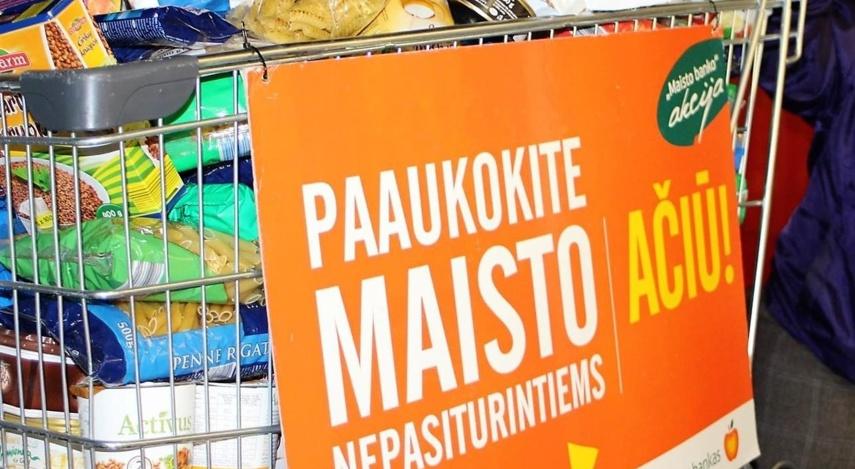 """100 Lietuvos miestų ir miestelių tęsiasi """"Maisto banko"""" akcija"""