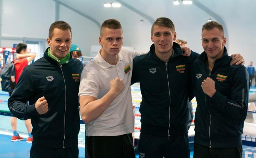 Dar kartą šalies rekordą pagerinę Lietuvos plaukikai pasaulio čempionate - septinti