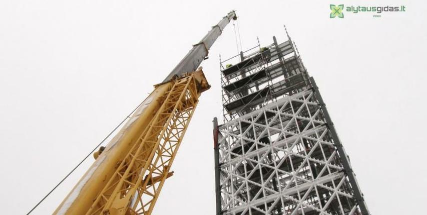 Birštono bokštas turės šešias apžvalgos aikšteles (vaizdo įrašas)