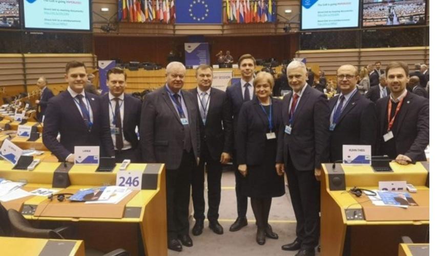 Tauragės meras Dovydas Kaminskas lankosi Briuselyje