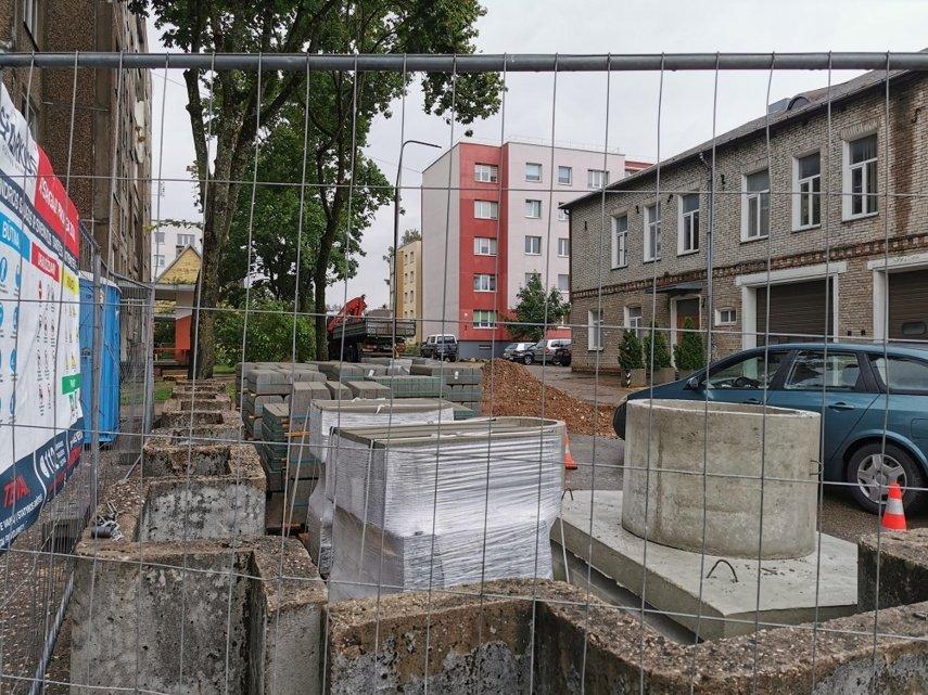 Jurbarke prasidėjo Ugniagesių gatvės atkarpos rekonstravimo darbai