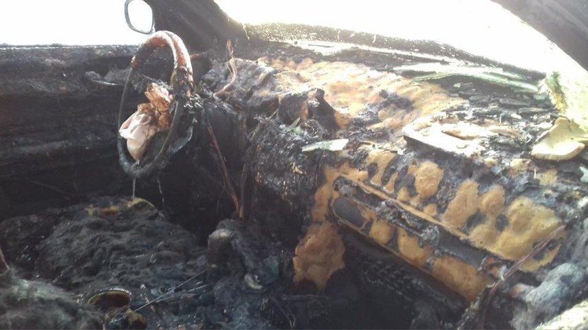 Prienuose padegtas automobilis