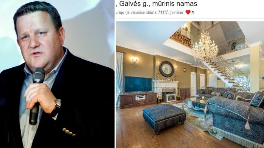 Buvusio TEO generalinio direktoriaus A. Šikštos krachas: išskirtinį namą Trakuose aukcione parduoda antstoliai