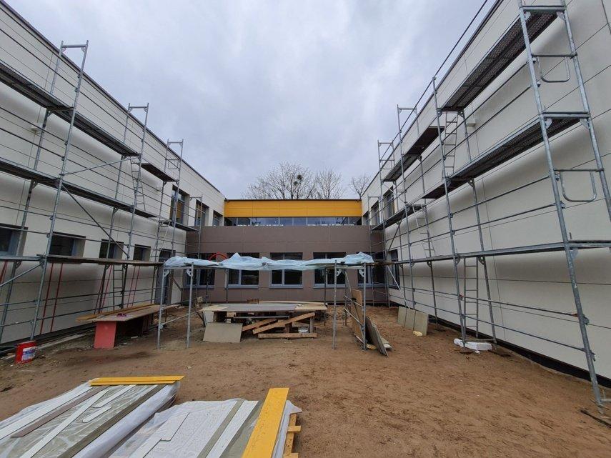 Meno mokyklos rekonstrukcijos darbai tęsis ir šiemet