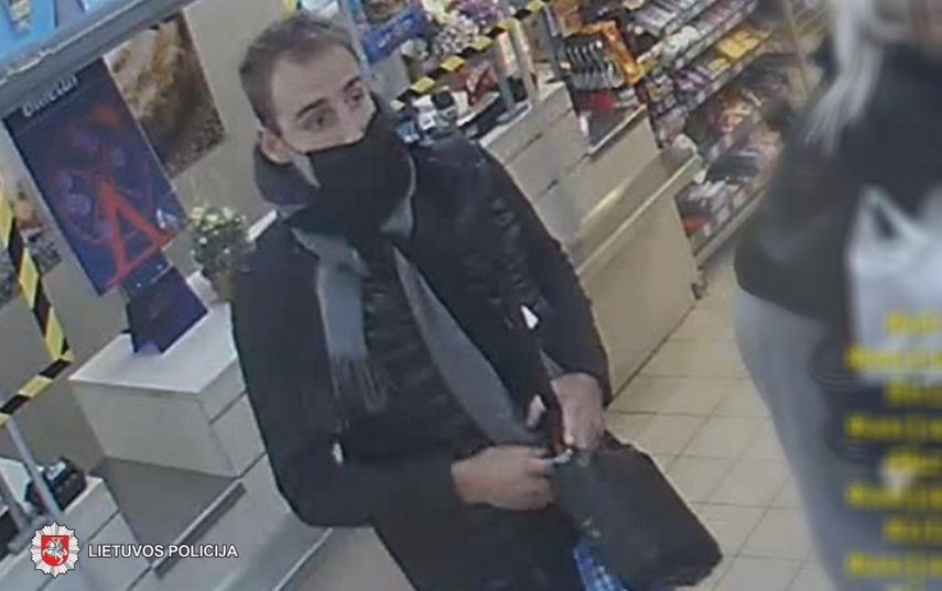 Panevėžyje iš parduotuvės vyras pavogė alkoholinių gėrimų: jo ieško policija