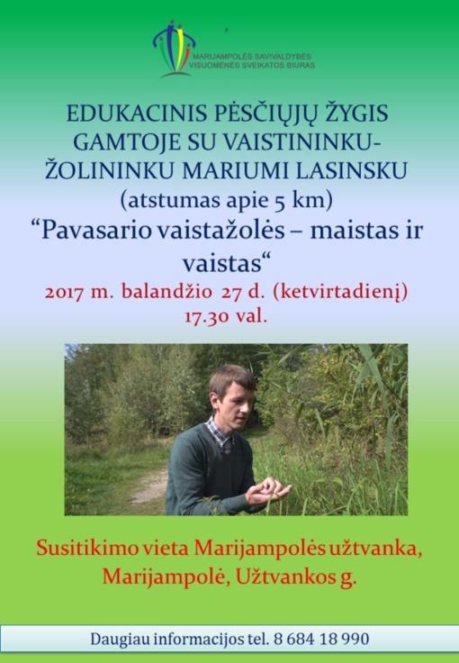 Balandžio 27 d. Edukacinis pėsčiųjų žygis