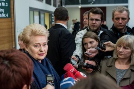 Prezidentė apie koaliciją: matome retorinius apsišaudymus