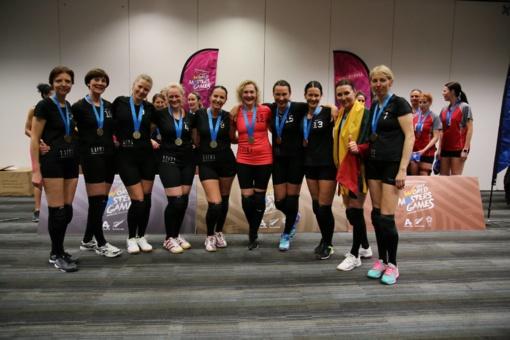 """""""Laimos"""" tinklininkės įspūdingai triumfavo pasaulio žaidynėse Naujojoje Zelandijoje"""