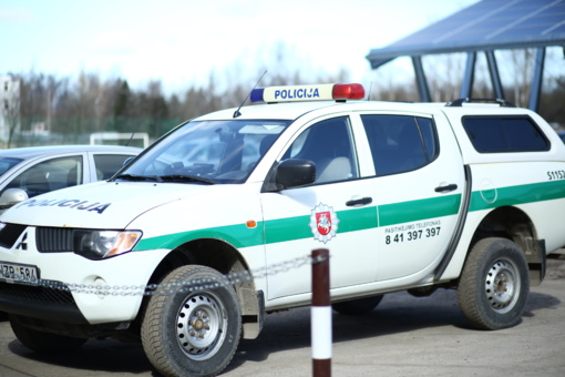 Šalčininkų rajone nuo policijos bėgęs vairuotojas sukėlė avariją