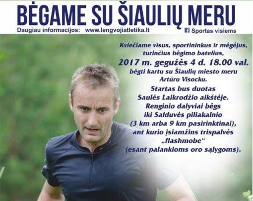 """""""Bėgame su Šiaulių miesto meru"""": ir mėgėjams, ir profesionalams"""