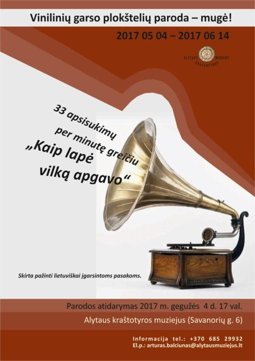 Kraštotyros muziejuje – vinilinių garso plokštelių paroda-mugė
