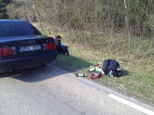 Ne tarnybos metu buvęs pasienietis sulaikė girtutėlį vairuotoją