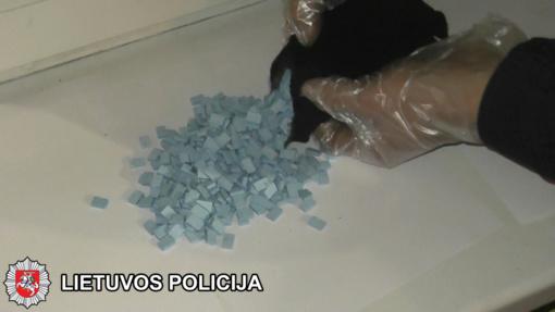 Klaipėdoje konfiskuota beveik 6 tūkst. psichotropinių tablečių (video)