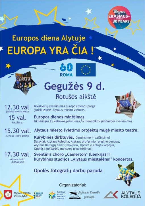 Europos dieną Alytuje kvepės pyragais