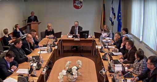 Savivaldybės tarybos posėdyje priimti 33 sprendimai