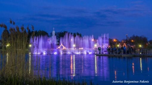 Pirmojo gegužės savaitgalio sutikimas – su fontanų srovėmis