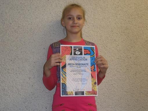 Tarptautinį konkursą laimėjo moksleivė iš Raseinių