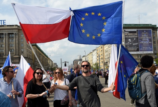 Varšuvoje vyksta antivyriausybinis protestas