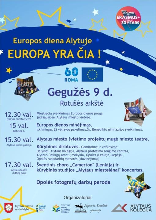 Europos dieną Alytuje kvepės pyragais. (papildyta: dėl oro sąlygų renginys perkeliamas į teatrą)