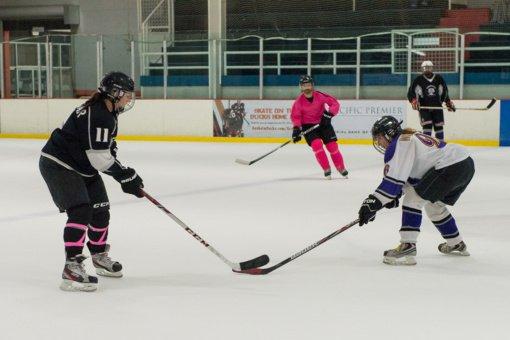 Lietuvoje pirmą kartą surengtas tarptautinis moterų ledo ritulio turnyras