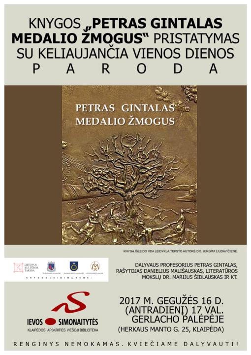 """Knygos """"Petras Gintalas medalio žmogus"""" pristatymas I.Simonaitytės bibliotekoje"""