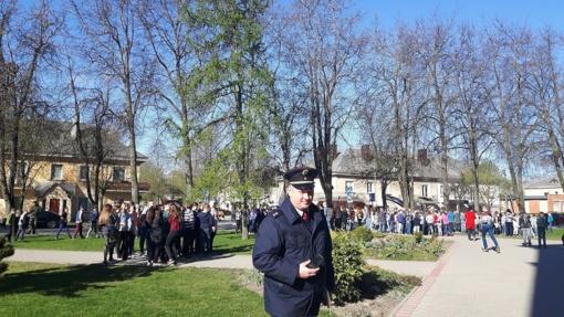 Evakuacijos pratybos Radviliškio Vinco Kudirkos pagrindinėje mokykloje
