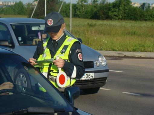 Policija skelbia apie birželio mėnesio reidus