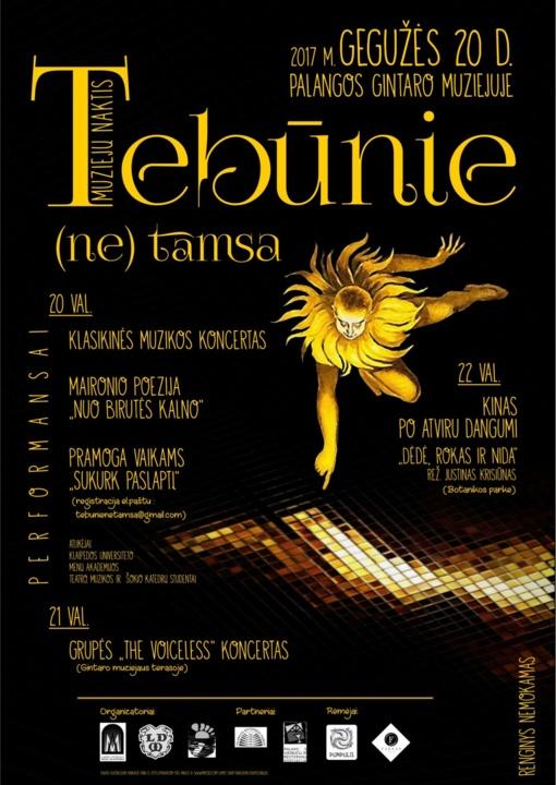 """Gintaro muziejuje – muziejų nakties renginiai """"Tebunie (NE) tamsa"""""""