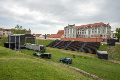 Nauja traukos vieta: prie Kauno pilies iškilo įspūdingas amfiteatras