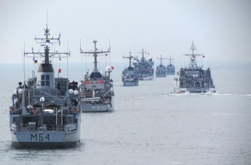 Lietuvos karo jūreiviai pasveikino Latvijos kolegas