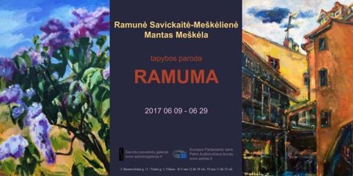R. Savickaitės-Meškėlienės ir M. Meškėlos darbų paroda: gėlės ir Vilniaus siela