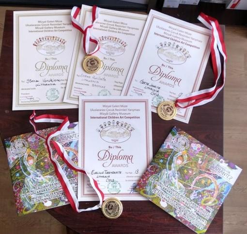 Sėkmė 29-ajame tarptautiniame vaikų piešinių konkurse