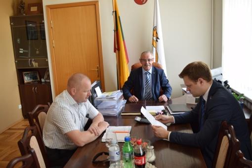 Raseinių meras susitiko su Seimo vicepirmininku