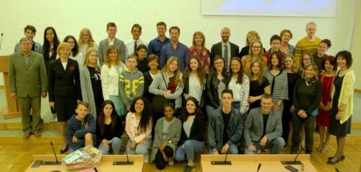 """Lankėsi projekto """"Europos mokiniai - sąmoningi vartotojai"""" dalyviai"""