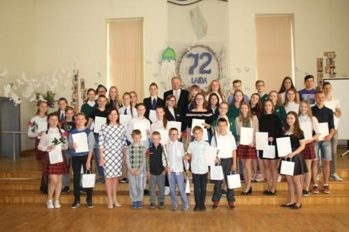 Apdovanoti gabiausi Pagėgių savivaldybės mokiniai