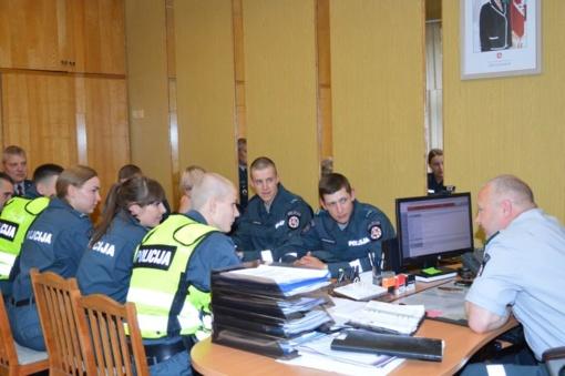 Geriausia pareigūnų mokykla - patruliavimas
