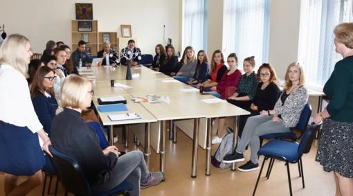 Vyko Utenos jaunimo reikalų tarybos posėdis