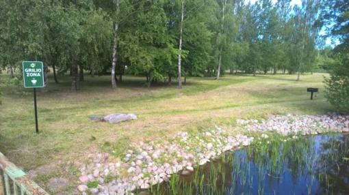 Marių parke įrengta grilio zona