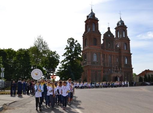 Birželio 9 d. pajudės tradicinė Vilniaus rajono piligriminė kelionė pėsčiomis iš Turgelių į Maišiagalą