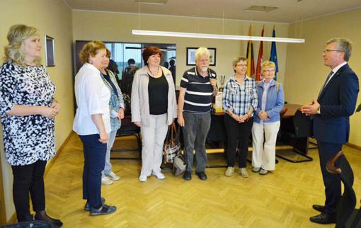 Jurbarko rajono savivaldybėje lankėsi Krailshaimo (Vokietija) delegacijos nariai